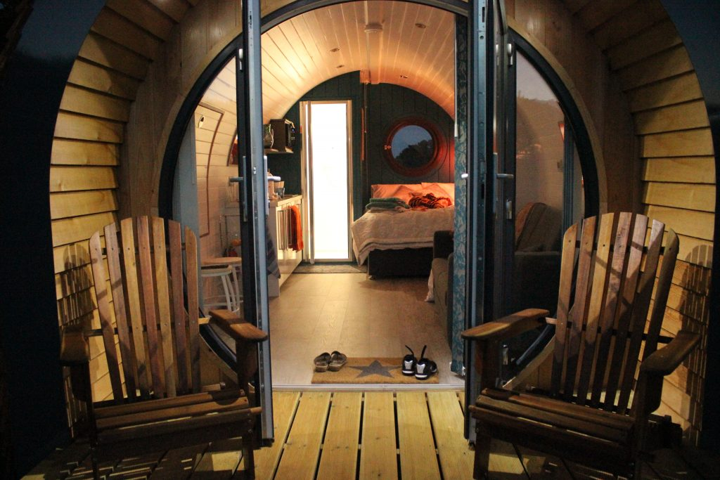 A perfect little pod: luxury glamping for up to four guests