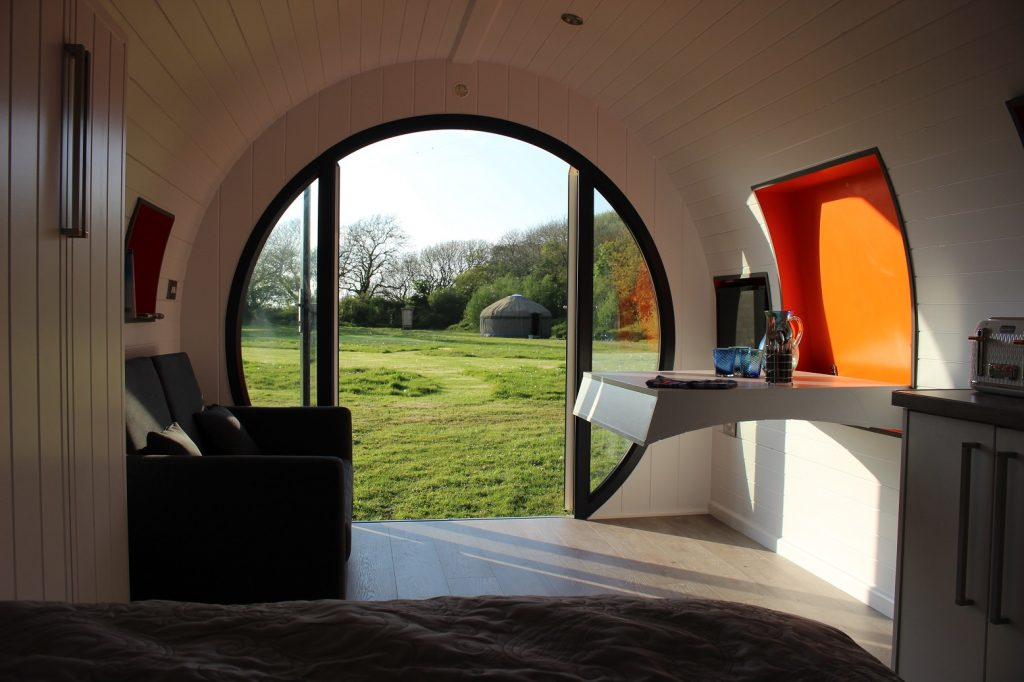Our luxury pod will give you the ultimate glamping experience