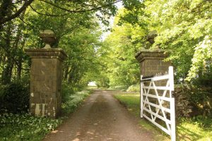 These gates marked the northern entrance to the Stackpole Estate