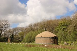 Our hand-crafted yurt with all its clothes on