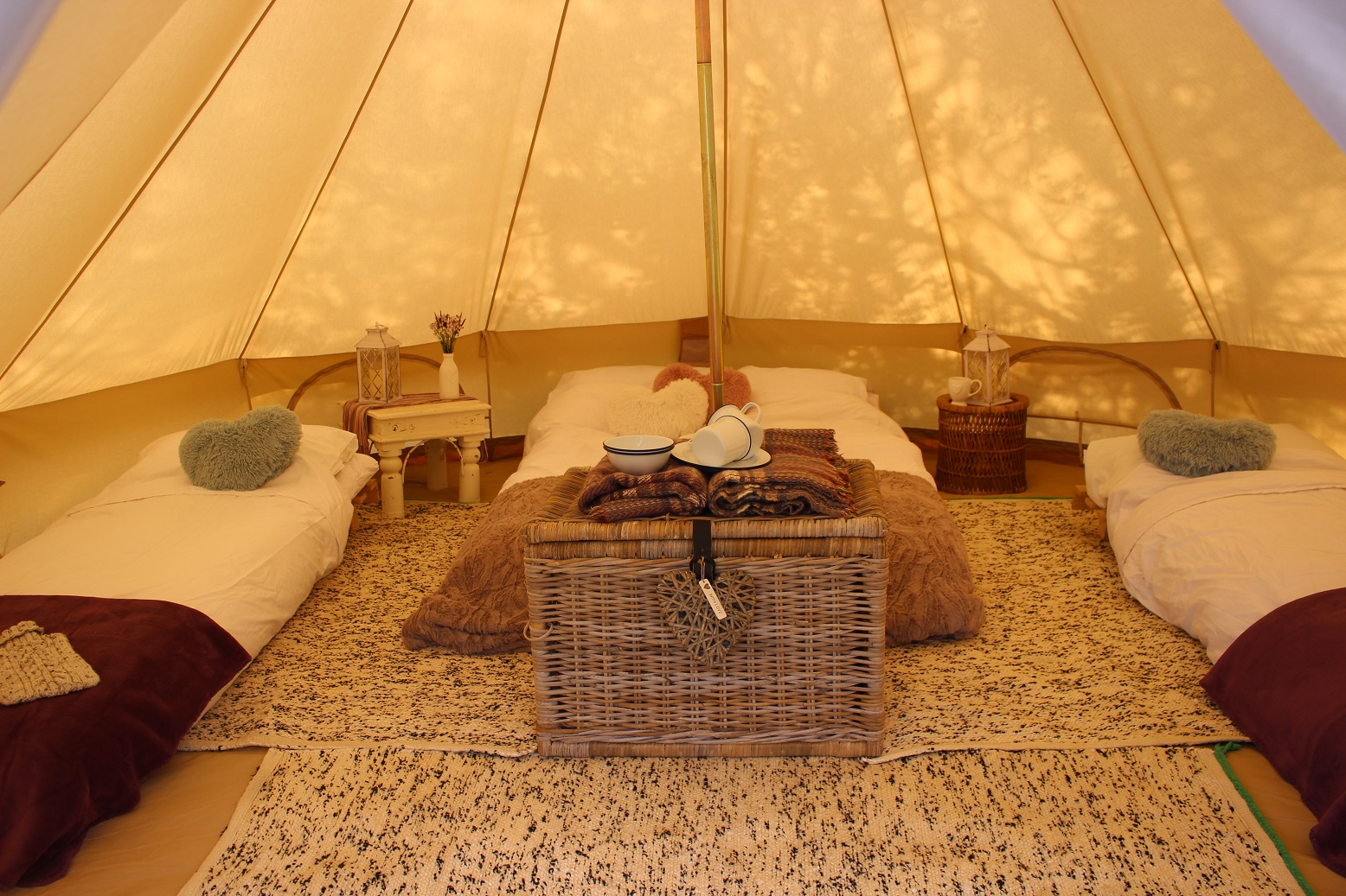 Camping is luxurious in our bell tents