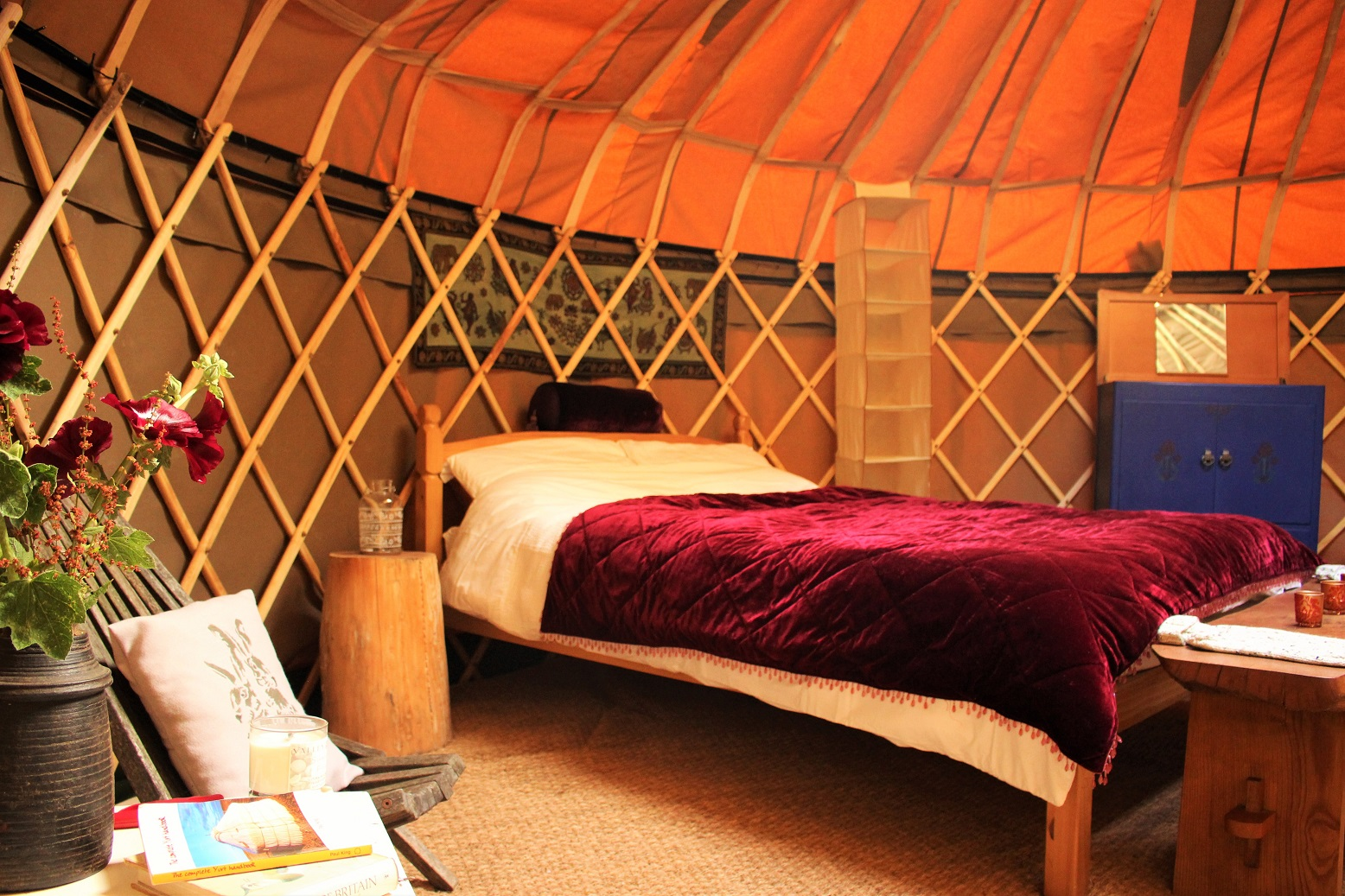 Stay in this gorgeous hand-built yurt, made by our very own Stan