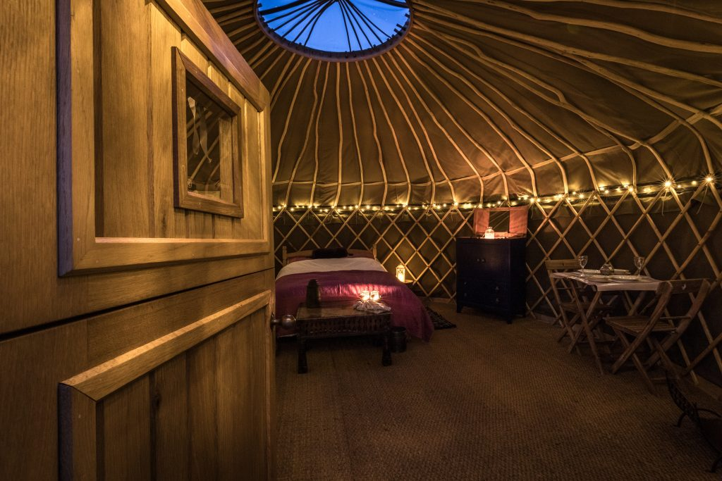 Starlit evenings are memorable in our yurts