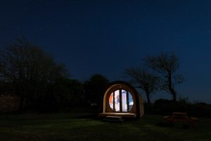 Our luxury glamping pod under the stars