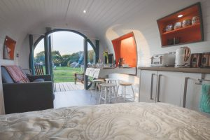 The original in 'glamorous camping' - our luxury glamping pod