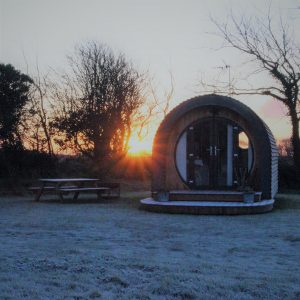 Cozy up in our Luxury Glamping Pod this December